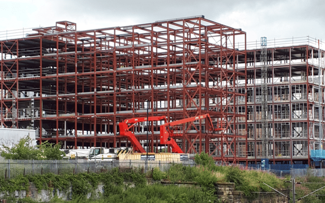 Steel Erection - Newcastle Student Accommodation
